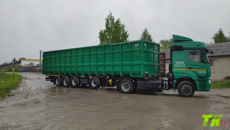 Ломовозное решение: полуприцеп ТОНАР К4-40 + контейнер OPENTOP